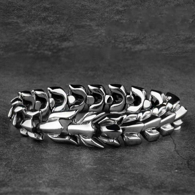 Drachen Armband Retro Tier Lange Kette Armband Trend Armband männer Punk Trend Hohe Qualität Metall Armband