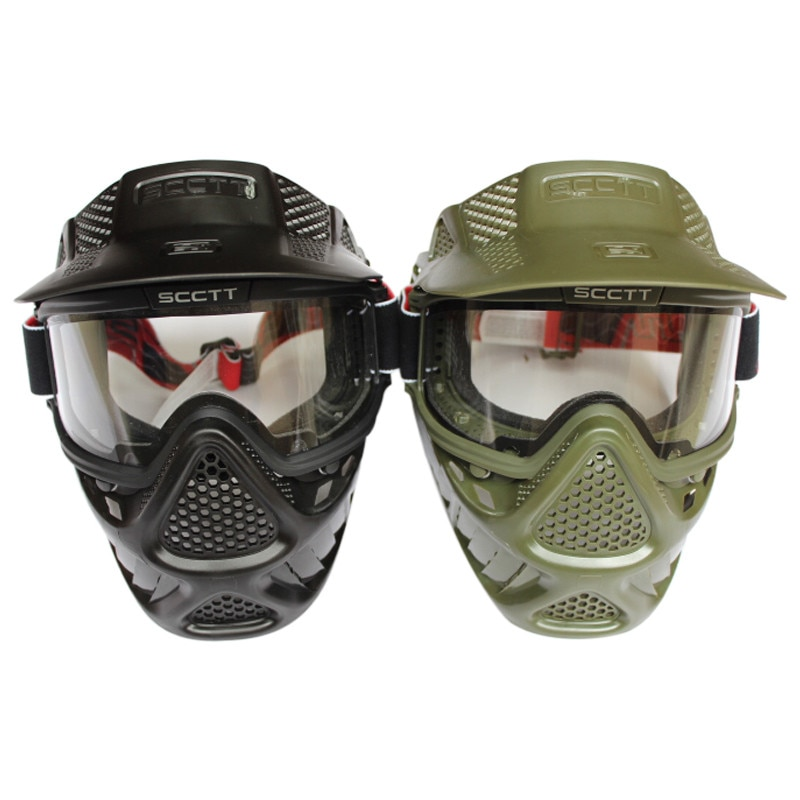 High Strength Mascara Airsoft full face Protective Mask for Paintball or Airsoft Mask Helmet with Double Lens Goggle Light Taste