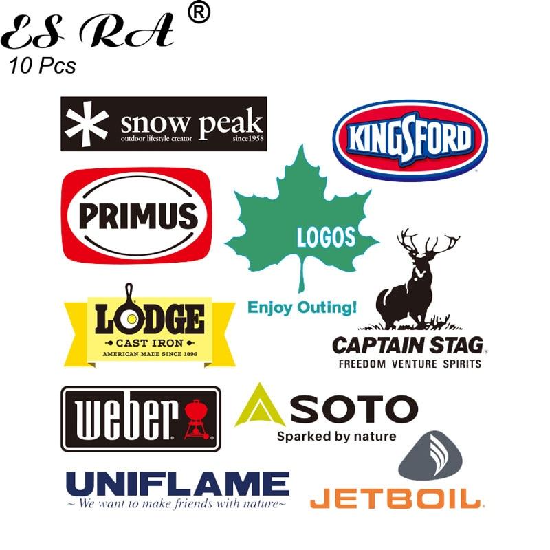 10 Pcs/Set Laptop Stickers Outdoor Brand Pegatinas Hiking Logo Decals for Car Suitcase Bottle Luggag