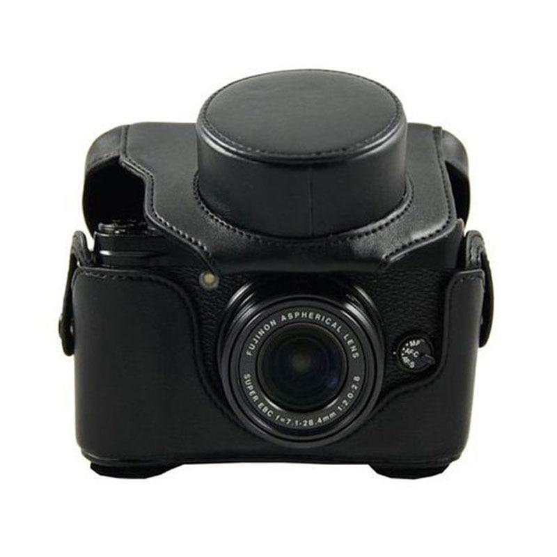 Funda de cuero para cámara FUJI FUJIFILM Finepix X10 LC-X10 X20 LC-X20