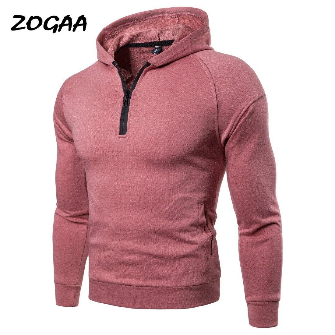 Мужская толстовка с капюшоном ZOGAA, Черный Повседневный свитер с капюшоном, толстая универсальная кофта на осень-зиму 2019