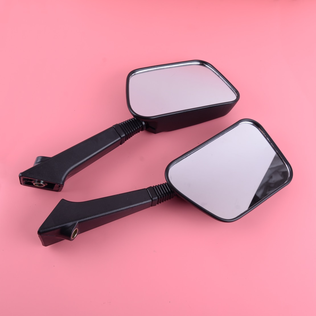 DWCX 1 par de espejo retrovisor negro apto para Honda Elite CF80 Aero CH80 NH80 CH125 CH150 CH150D DELUXE
