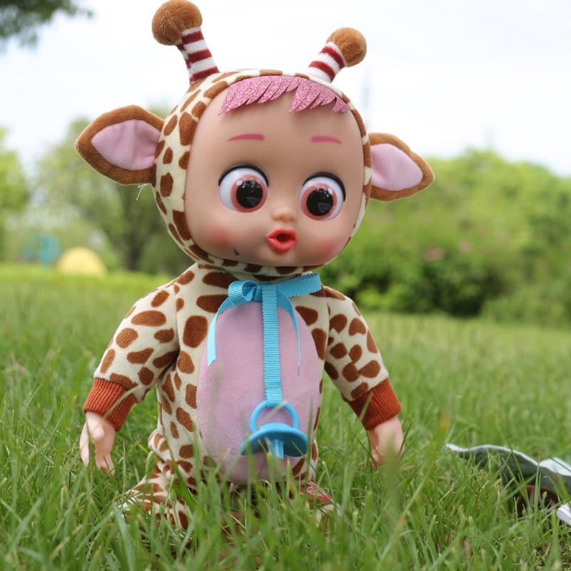 Электрическая кукла для плача для девочек, 30 см
