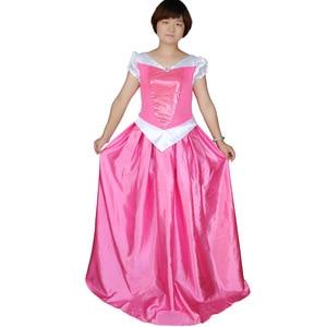 Carnival Sleeping Beauty Princess Cosplay Adult Halloween Costumes for Women Pink Fancy Dress