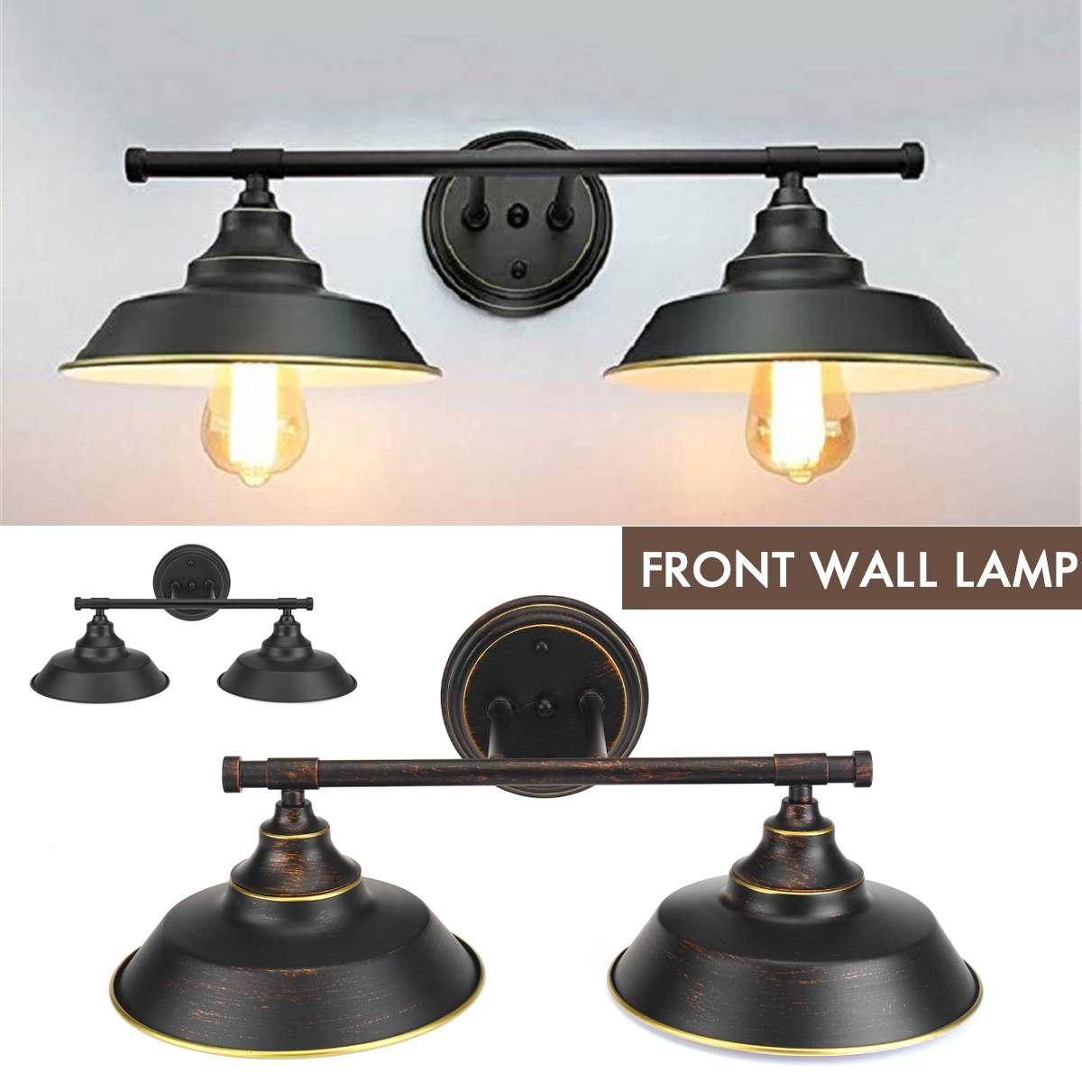 مصباح جداري LED عتيق ، E26/E27 ، عتيق ، حديد صناعي ، حامل إضاءة داخلي ، مصباح حائط لغرفة المعيشة ، غرفة النوم ، بجانب السرير