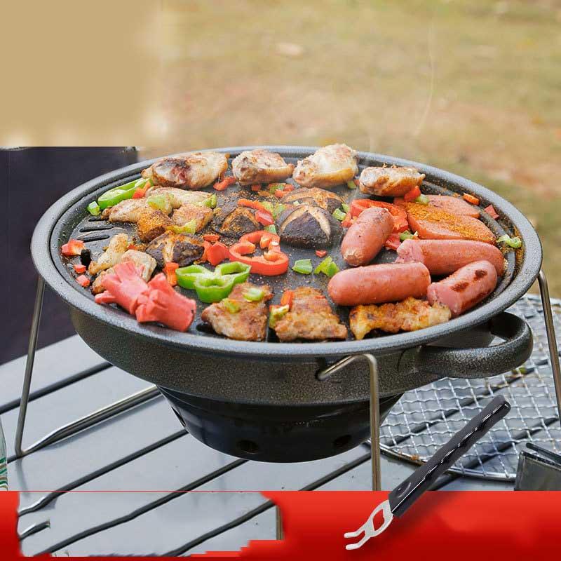Mini barbacoa de encimera Grill portátil carboncillo plegable BBQ Grill al aire libre de viaje Patio estufa de Cocina Barbacoa con bolsa de transporte