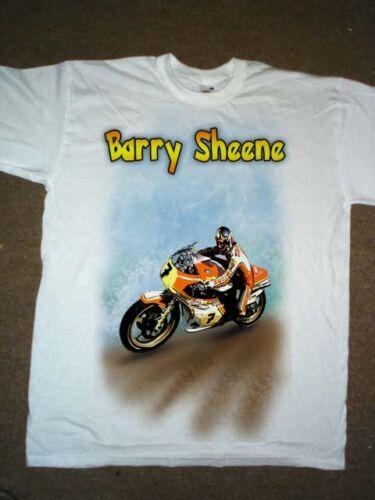 Camisetas divertidas de aerógrafo Barry Sheene moto chemion t-shirtmasculino Hip Hop barato al por mayor