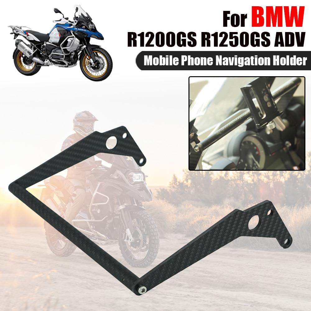 For BMW R1200GS R1250GS Adventure R 1200 1250 GS ADV Carbon Fiber Handlebar Bracket Mobile Phone GPS Navigation Support Holder