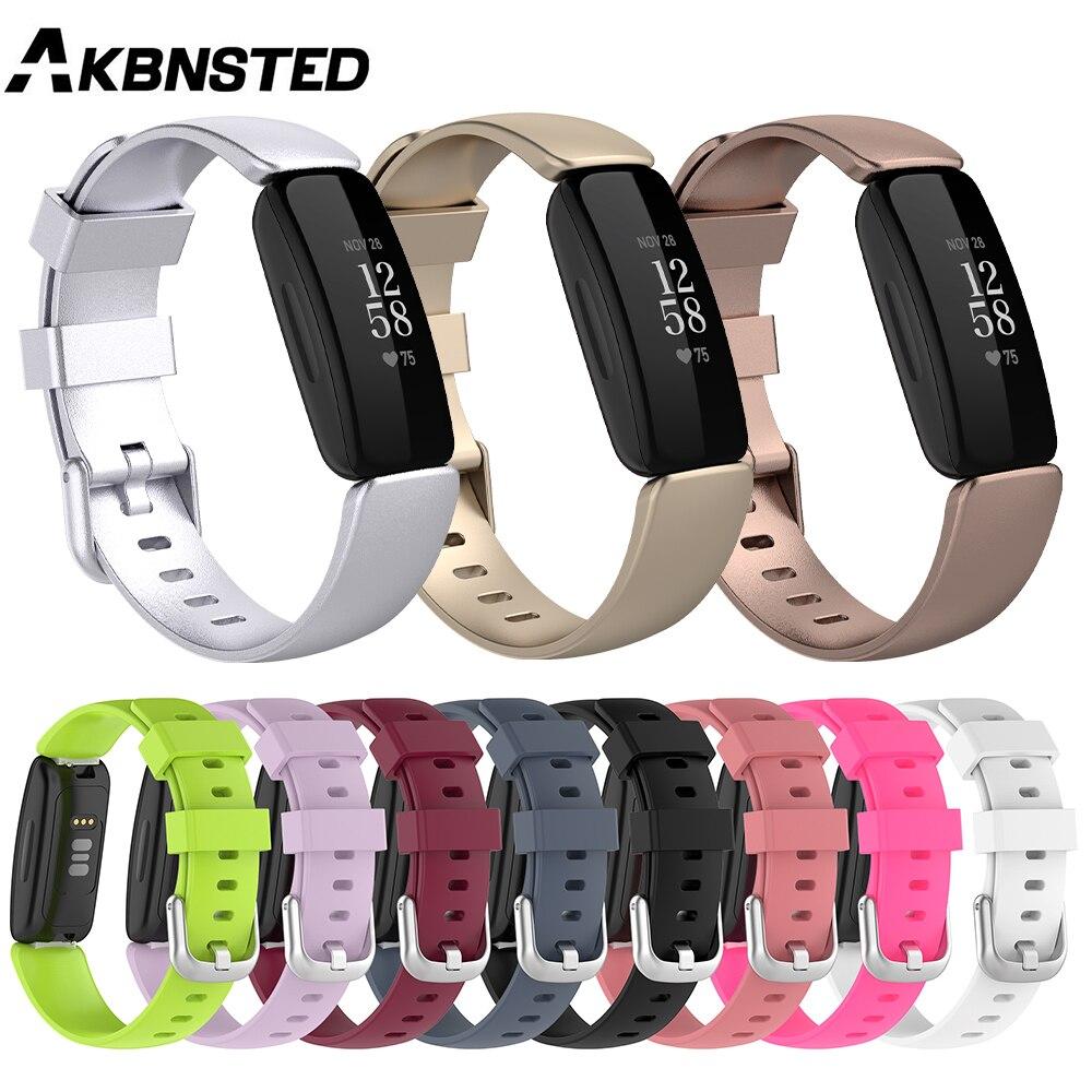 AKBNSTED-Correa deportiva colorida para Fitbit Ace 3, pulsera inteligente Fitbit Lnspire 2,...