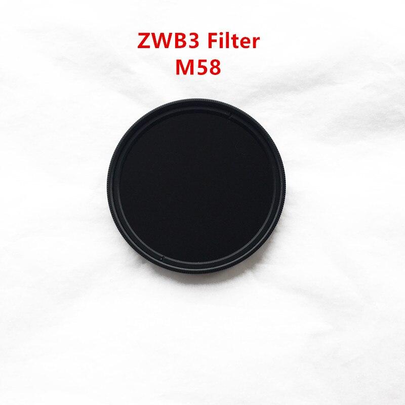 Filtro de cámara UV de 58mm, U-330 ZWB3 UG5 con anillo de metal
