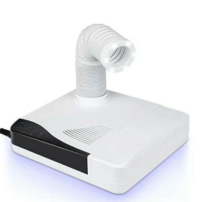 60W herramienta de limpieza artística 3 en 1 colector de polvo de uñas limpiador de tubería para polvo eléctrico fuerte 35000 taladro de uñas pieza de mano vacío con LEDs