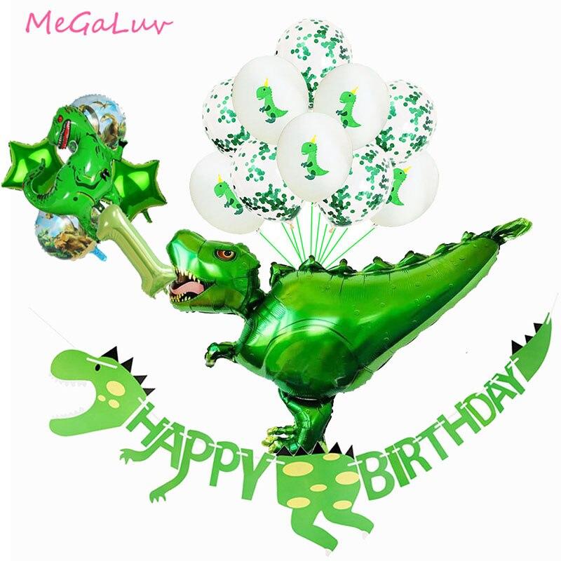 Große 4D Walking Dinosaurier Folie Luftballons Jungen Tier Luftballons Kinder Tier Geburtstag Party Jurassic Welt Baby Dusche Decor