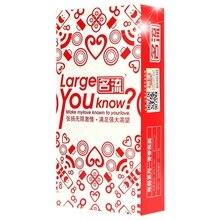 Mingliu convient aux préservatifs pour pénis de grande taille 55Mm préservatifs Extra larges éjaculation différée grande quantité dhuile Latex naturel lisse Ad