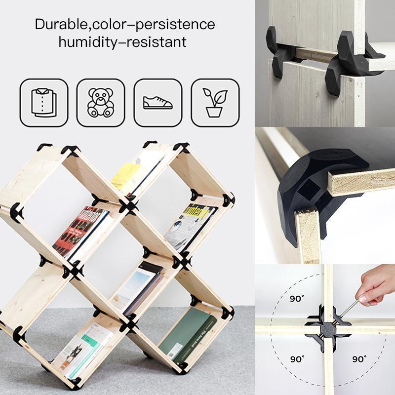 8 قطعة سبورة خشبية موصل DIY بها بنفسك 90 درجة النجارة موصل حزمة اتصال سريع كليب الأثاث موصل سريع اللوح الأصدقاء