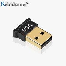 Kebidumei Mini BT 5,0 adaptador USB Dongle inalámbrico USB Bluetooth transmisor 5,0 receptor de música adaptador Bluetooth para ordenador PC
