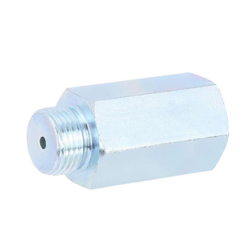 Sensor de oxígeno de Gas de escape de coche de acero inoxidable O2 Lambda Sensor extensor espaciador para sensores de automóviles Decat e hidrógeno M18