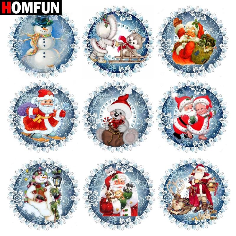 "HOMFUN Full Square/Round Drill 5D DIY Diamond Painting ""Santa Claus snowman Bear""3D Embroidery Cross Stitch 5D Home Decor Gift"