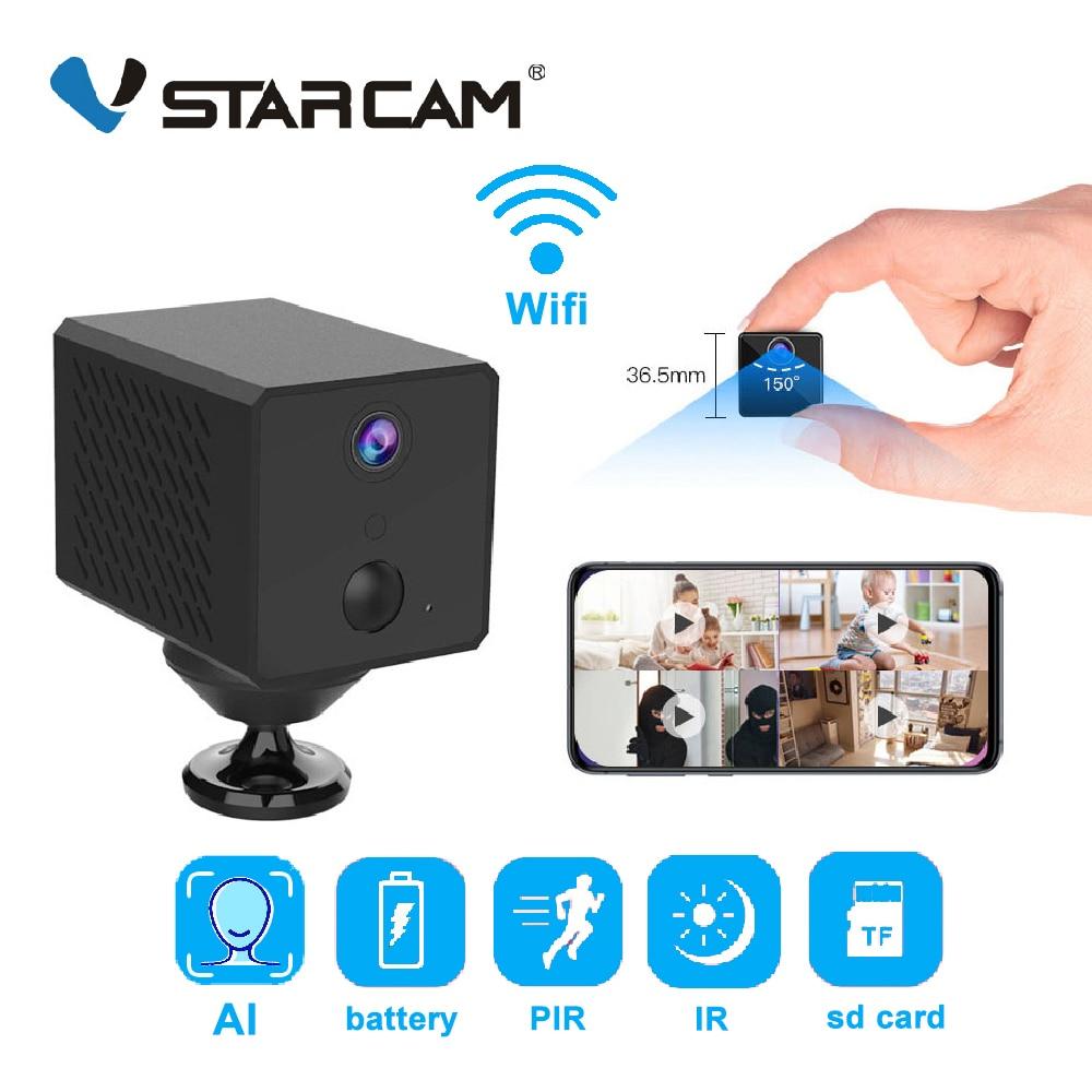 Vstarcam 1080P Mini Wifi Camera AI Humanoid Detection 1500mAh Rechargeable Battery IP Camera PIR Det