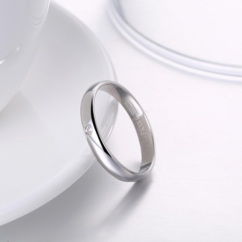 SILVERHOO 925 Sterling Silver Rings Minimalist New Arrival Tiny Zircon Women Ring Wholesale Fine Silver Jewelry Girlfriend Gift