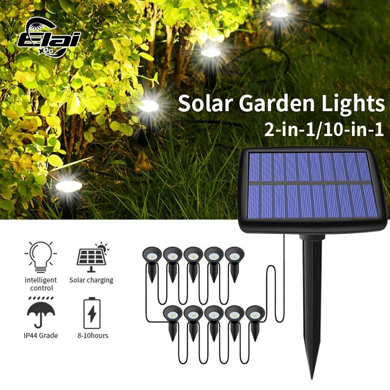 Solar Outdoor Garden Lamp Waterproof Solar Powered Outdoor LED Light Path Landscape Waterproof IP44 Mini Solar Flood Lawn Lamp
