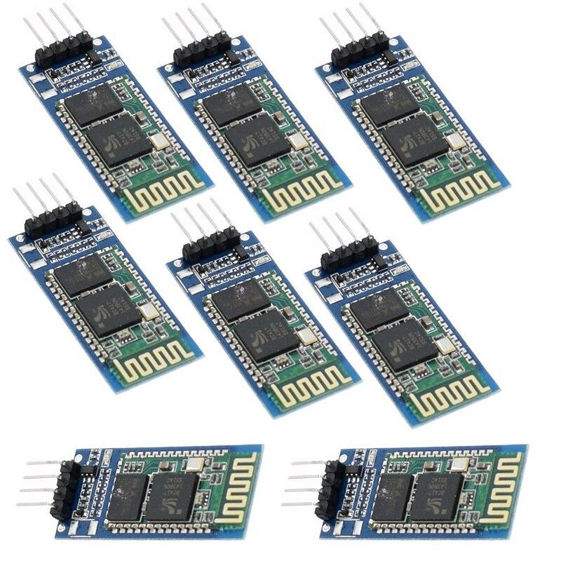 A + 10 pièces HC06 HC-06 sans fil série 4 broches Bluetooth RF émetteur-récepteur Module RS232 TTL pour Arduino Bluetooth Module