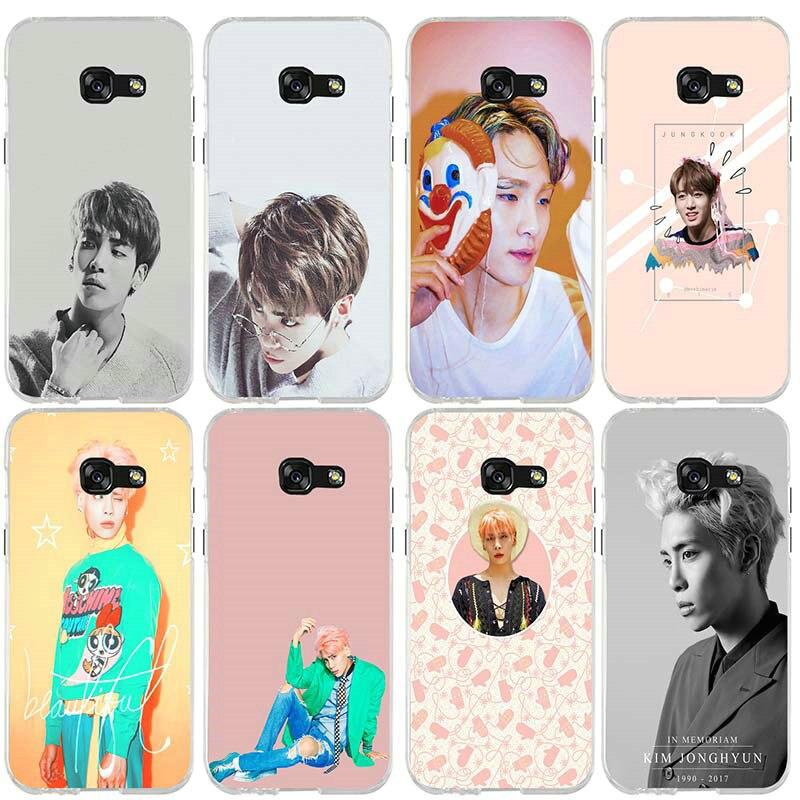 Para Samsung Galaxy A3 A5 A7 J2 J3 J4 J6 J5 J7 J8 2016 2017 2018 carcasa suave TPU cubierta Corea estrella Jonghyun Key Shinee Kpop Minho