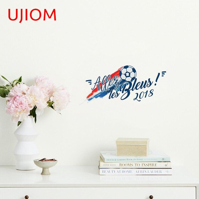 UJIOM calcomanía deportiva para pared Allez Les Bleus decoración del hogar dormitorio...