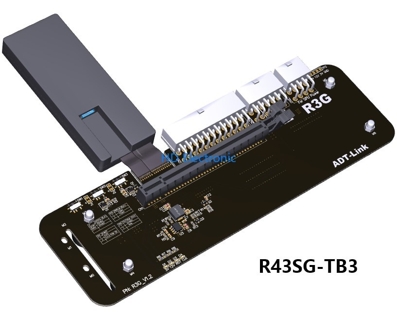 Видеокарта внешняя PCIe x16 Thunderbolt 3 PCI-e 16x TB3 кабель-удлинитель PCI-Express eGPU адаптер ноутбук itx stx nuc