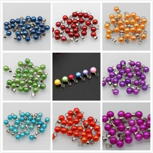 20 Pcs/Lot Pearl Pendants for Women 6-8MM Round Pearl Pendant Jewelry 925 Sterling Jewelry XK4