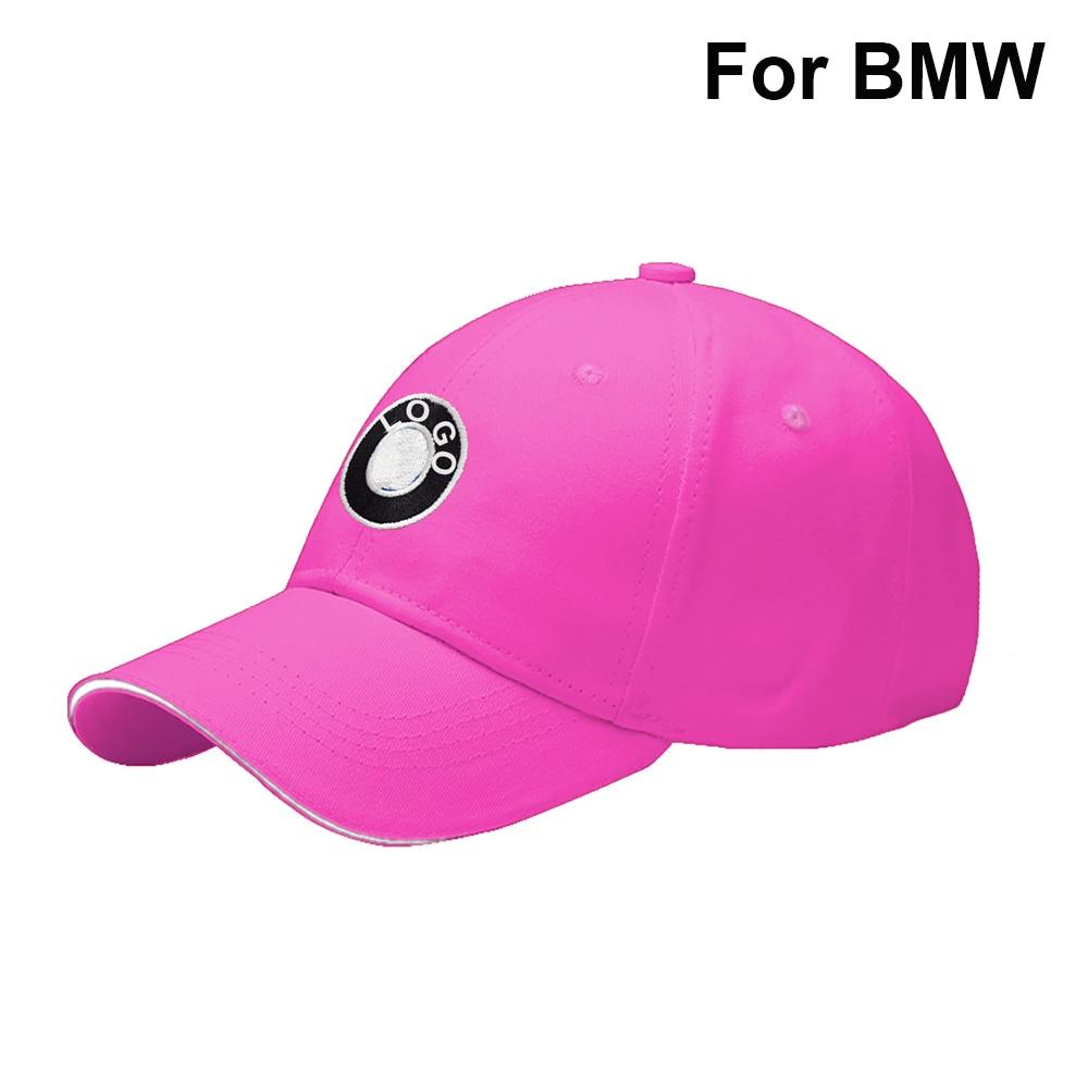 Men Women Adjustable Outdoor Baseball Cap For BMW Hip Hop Cap Auto Logo Fashion Breathable Dad Hat Car Accessories Pink 2021 NEW