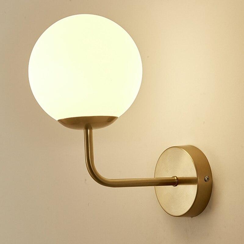 Современная стеклянная настенная лампа с круглыми углами, прикроватное бра для гостиной, настенные светильники для ванной, зеркала, светил...