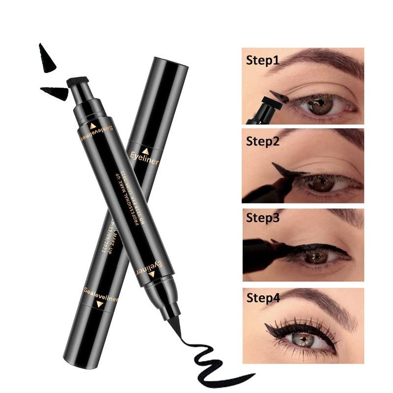 New Eyeliner Waterproof Black Double-ended Eyeliner Pencil Make Up Beauty Cosmetics Long-lasting Eye Liner makeup tools