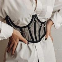 sexy corset underbust women gothic corset top curve shaper modeling strap slimming waist belt chain lace corsets bustiers