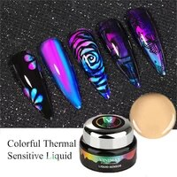 13gboxed thermochromic liquid permanent varnish lacquer nail gel mood color changing uv led soak off pedicure gel polish