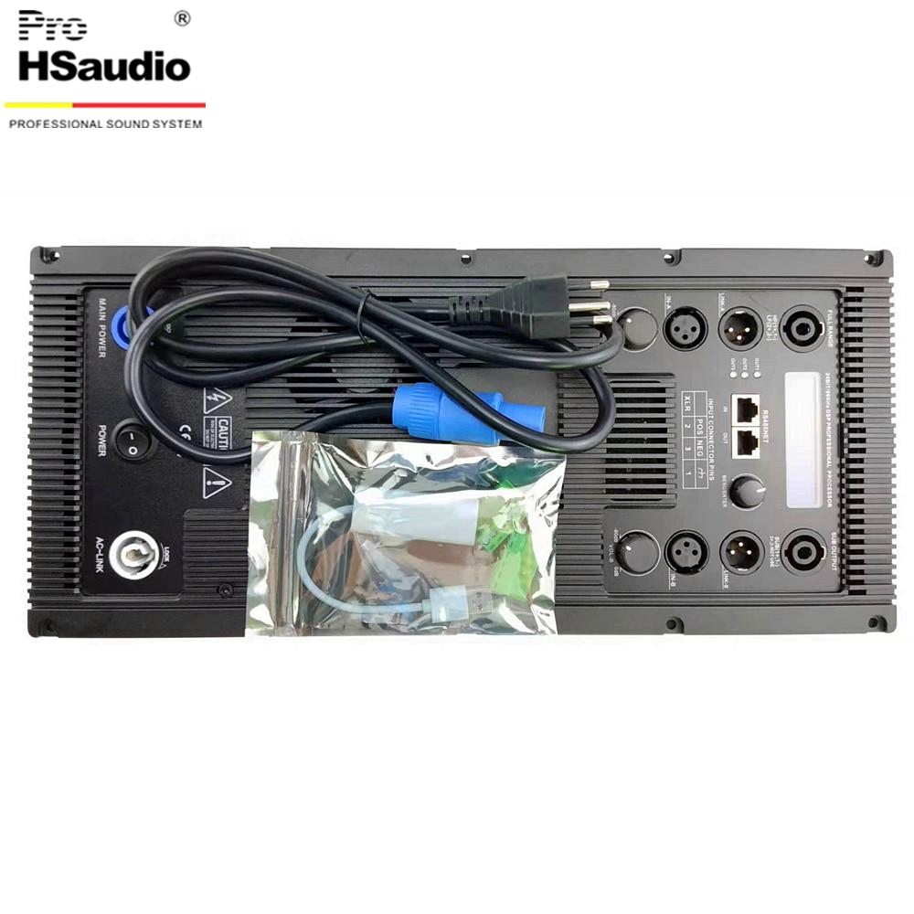 ProHSaudio مضخم ومكبر الصوت لمصفوفة خطية فئة D وحدة مكبر للصوت ، 3-Way DSP معالج الصوت مع شاشة الكريستال السائل