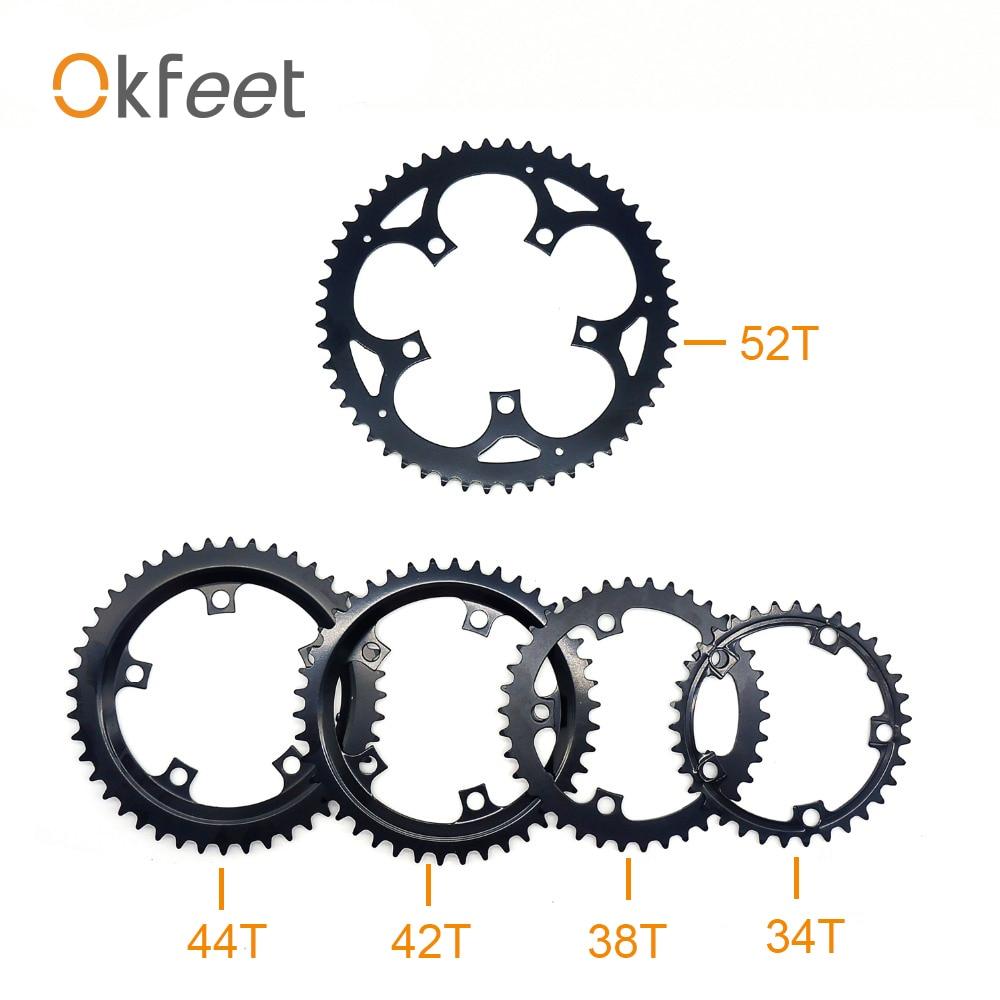 Okfeet tsdz2 tongsheng mid drive motor 52 t 48 t 38 t 36 t 34 t chainwheel conjunto de anel de corrente para bicicleta elétrica kit