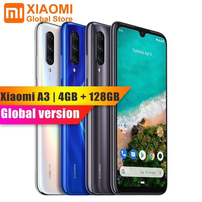 Teléfono Móvil versión Global Xiaomi mi A3 4GB 128GB teléfono Snapdragon 665 32MP + 48MP cámara trasera Dual Flagship 4030mAh Smartphone