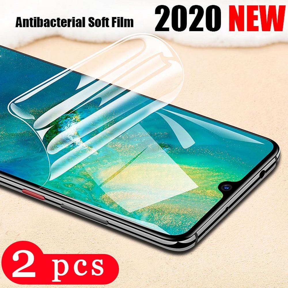 Funda completa suave 9D para huawei mate 30 20 pro 20x10 lite, protector de pantalla del teléfono, película de hidrogel, no película protectora de cristal, 2 uds.