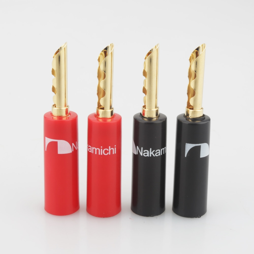 8 stücke Nakamichi BFA Banana Stecker Stecker 24K Vergoldete lautsprecher kabel stecker 8 stück