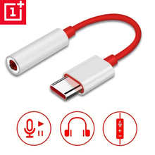 Original OnePlus 6T 8T 7 Pro usb Type C To 3.5mm Earphone Jack Adapter Aux Audio For OnePlus 8/8 Pro Nord usb-c converter cable