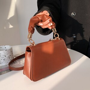 New Designer Luxury Women's Famous Brand Small Totes Female 2021 Fashion PU Leather Shoulder Bag Handbags and Purses