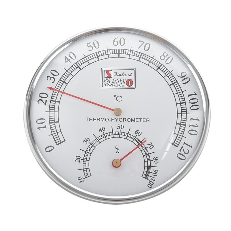 Thermomètre hygromètre Sauna thermomètre boîtier en métal vapeur Sauna pièce thermomètre hygromètre bain et Sauna intérieur extérieur utilisé