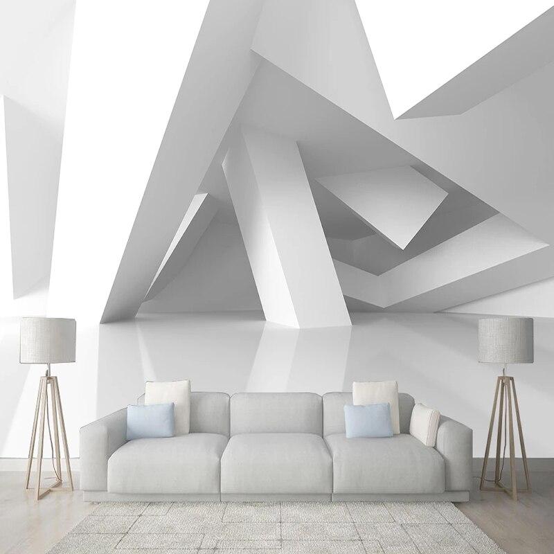 3D геометрические 3D обои, 3D стерео космические строительные обои для гостиной, ТВ, учебы, креативного искусства, 3 D