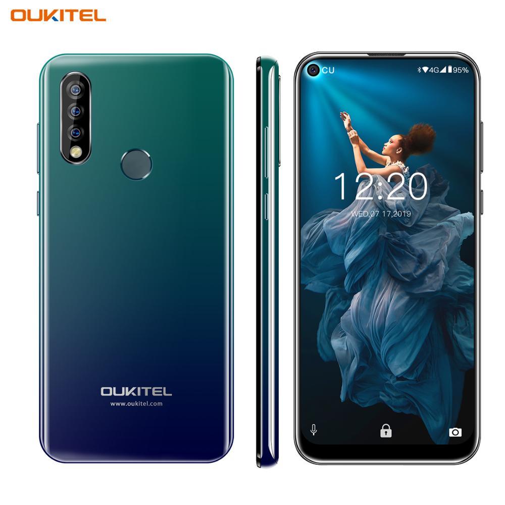 "OUKITEL C17 Pro 6,35 ""agujero ciego pantalla teléfono móvil Android 9,0 MTK6763 Octa Core 4G + 64GB Dual 4G LTE Triple cámaras Smartphone"