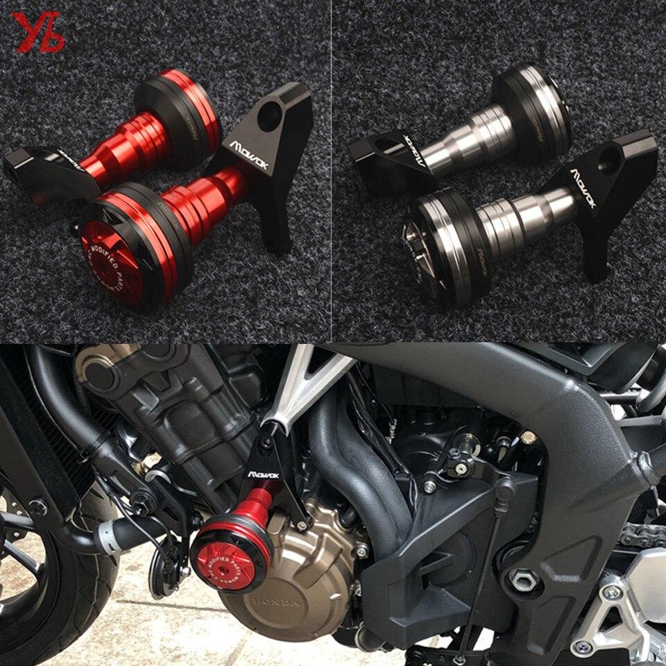 دراجة نارية CNC تحطم منصات الإطار المنزلق حامي لهوندا CB 650F CBR 650F 650R CB650F CBR650R 2019 2018 2017 2016 2015 2014