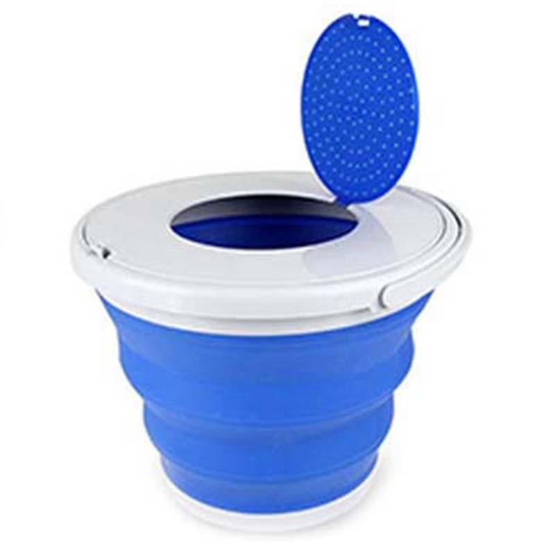 Cubo plegable portátil, cubo plegable para turismo, cubo plegable para exteriores con tapas, cubeta para lavar autos y acampar al aire libre