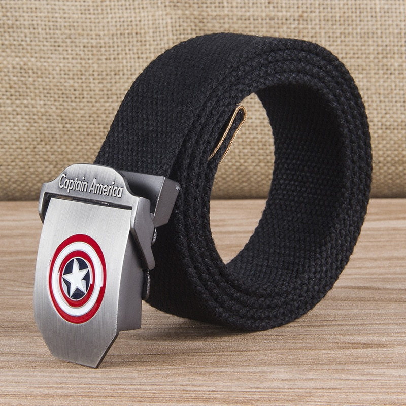New Men & Women High Quality Belt 3D Captain America Canvas Military Belt Soviet Memory CCCP Luxury Jeans Tactical Belt