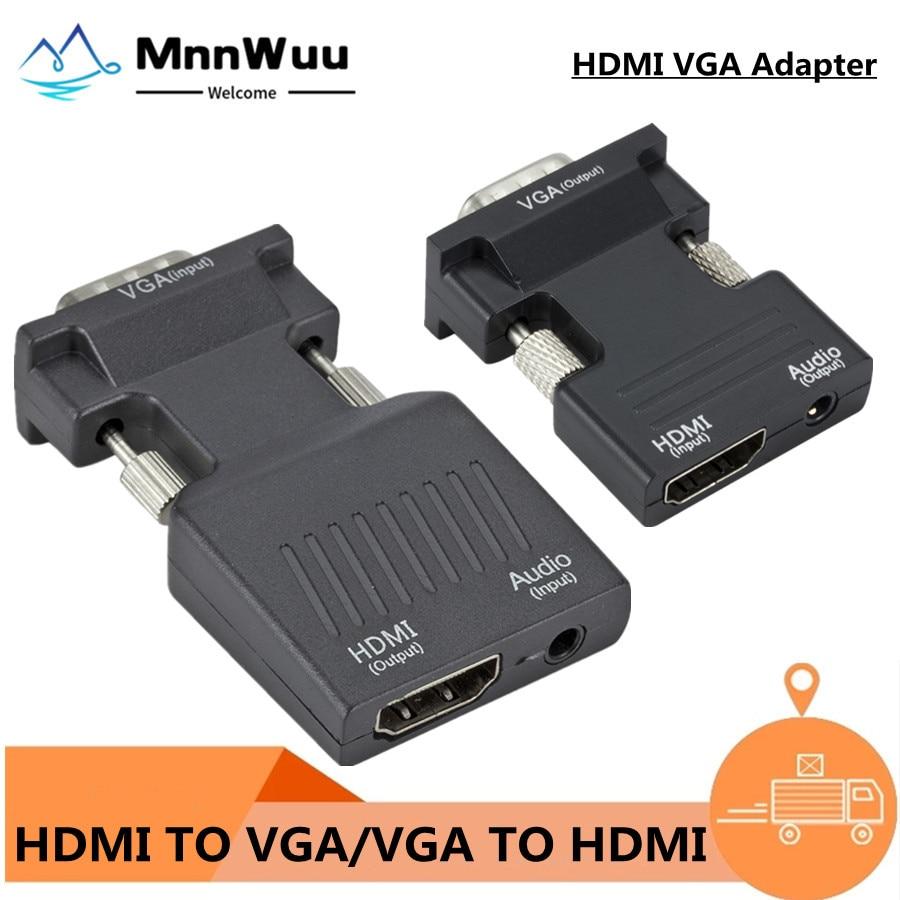 Adaptador convertidor VGA a HDMI, compatible con 1080P, adaptador VGA para PC,...