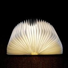 LED rechargeable par usb pliable en bois livre forme lampe de bureau veilleuse pour la décoration intérieure lumière blanche chaude livraison directe