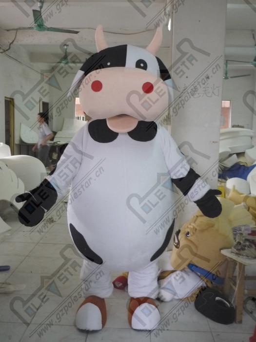 Disfraz de ganado mascota lechera de calidad diseño de Mascota de dibujos animados de vaca lechera